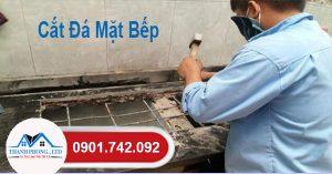 Thợ chuyên sửa chữa cắt đá mặt bếp