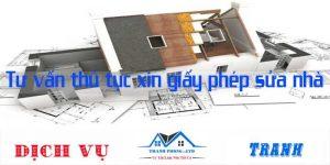 Tư vấn thủ tục xin giấy phép sửa nhà
